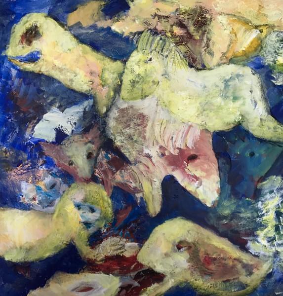 Havfruen og de kærlige væsener (60x60)